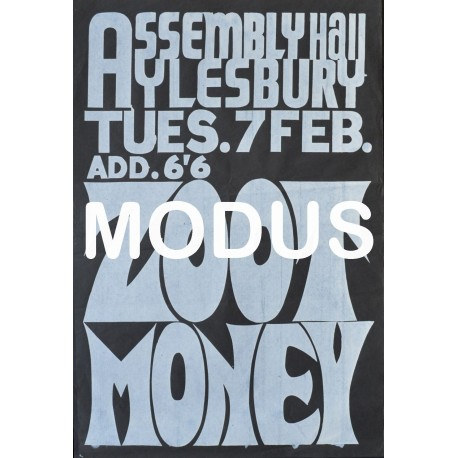 Zoot Money. Original Poster.