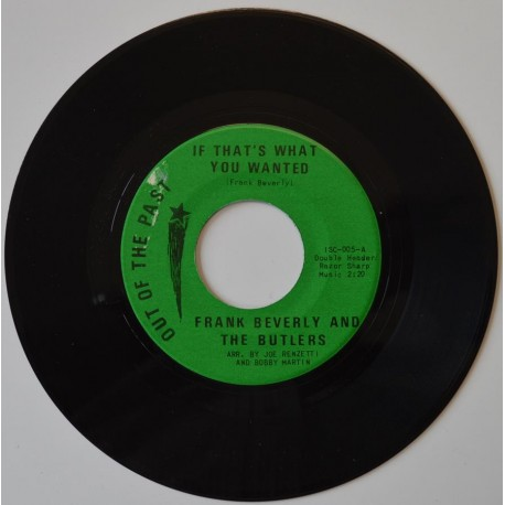 Frank Beverly & The Butlers 'If That's What You Winted'