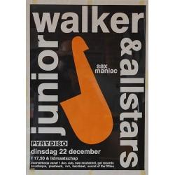Junior Walker and The Allstars. Original Poster 'Sax Maniac'