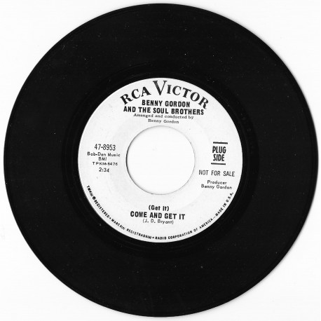 Benny Gordon & The Soul Brothers  'Come And Get It'
